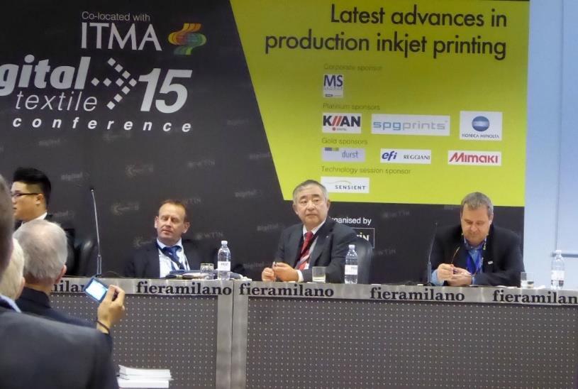 (2015年11月 ミラノ開催ITMAに於けるWTINのデジタルテキスタイル・コンファレンス)